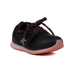 Tênis Kidy Infantil para Bebê Menina - Preto 25