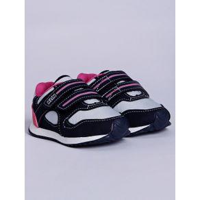 Tênis Klin Infantil para Bebê Menina - Azul Marinho/rosa Pink 20