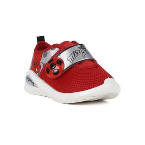 Tênis Ladybug Infantil para Menina - Branco/vermelho 32/33