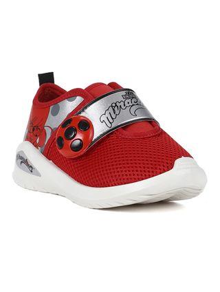 Tênis Ladybug Infantil para Menina - Branco/vermelho
