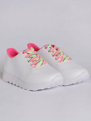 Tênis Molekinha Infantil para Menina - Branco/rosa