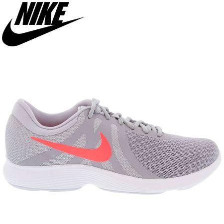Tênis Nike Revolution 4 Cinza e Rosa