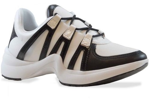 Tênis Ramarim Casual Dad Sneaker Preto Branco