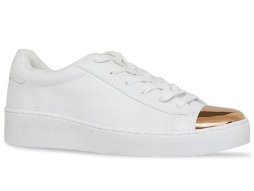 Tenis Ramarim Sport Chic Branco Dourado