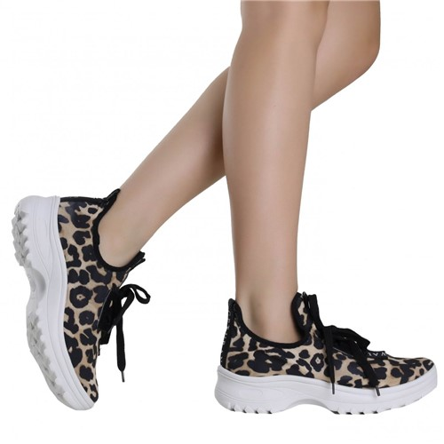 Tênis Zariff Shoes Animal Print Preto