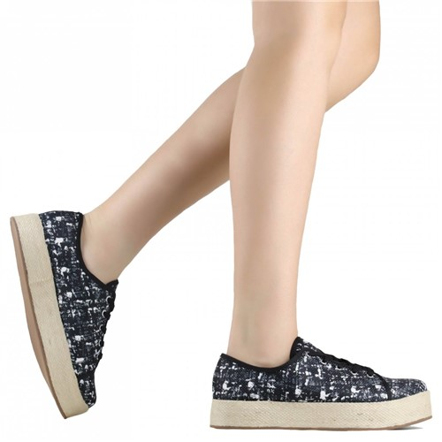 Tênis Zariff Shoes Casual Espadrille Preto