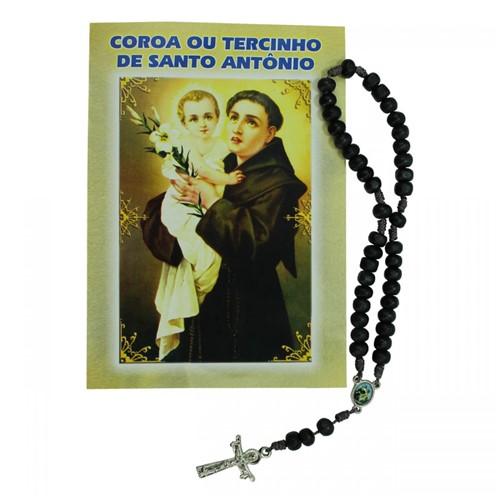 Terço com Folheto de Santo Antônio | SJO Artigos Religiosos