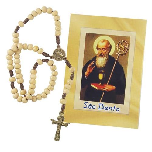 Terço com Folheto de São Bento | SJO Artigos Religiosos