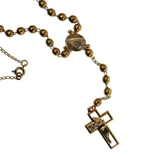 Terço de Pescoço Dourado | SJO Artigos Religiosos