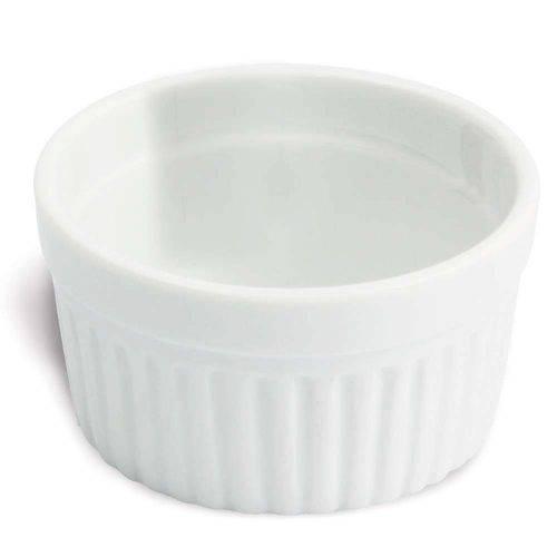 Tigela Pote Ramequin de Porcelana 180ml Branco Oxford