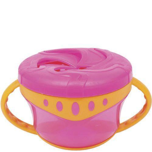 Tigela Snack com Alça - Rosa - Buba Toys