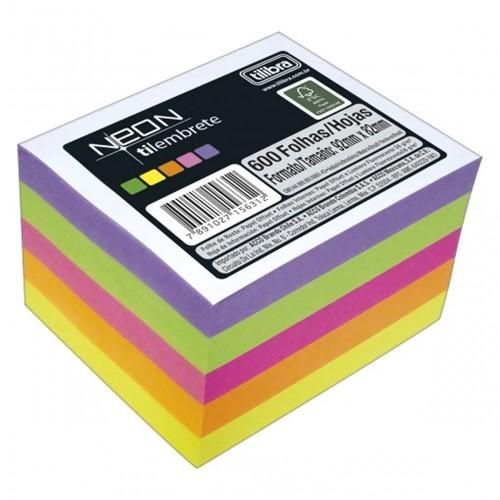 Tilembrete Neon 600 Folhas - Tilibra 156311