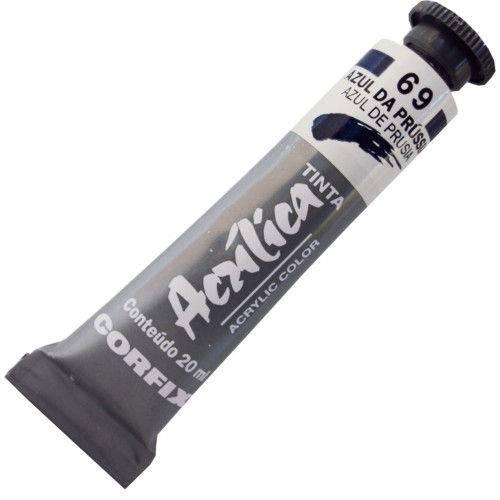 Tinta Acrilica Corfix 020 Ml Azul da Prussia 80020-69