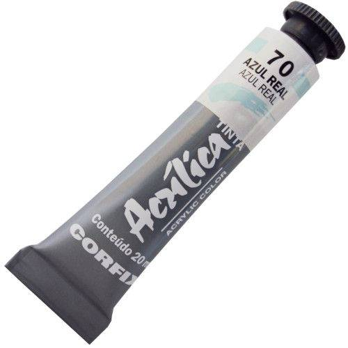 Tinta Acrilica Corfix 020 Ml Azul Real 80020-70