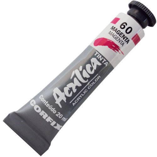 Tinta Acrilica Corfix 020 Ml Magenta 80020-60