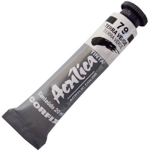 Tinta Acrilica Corfix 020 Ml Terra Verde 80020-79