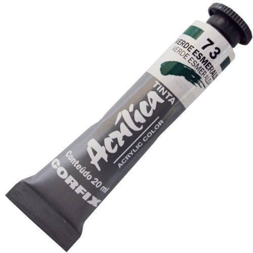 Tinta Acrilica Corfix 020 Ml Verde Esmeralda 80020-73