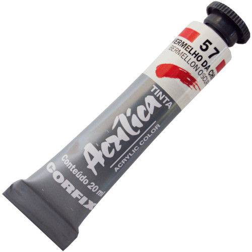 Tinta Acrilica Corfix 020 Ml Vermelho da China 80020-57