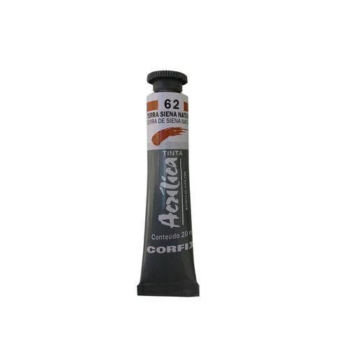 Tinta Acrílica Corfix 20ml 062 Terra Siena Natural