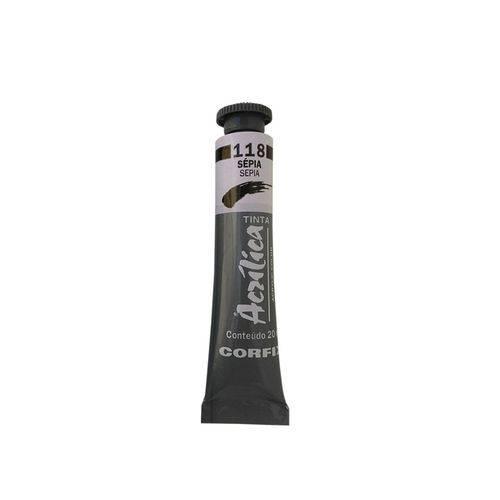 Tinta Acrilica Corfix 20ml 118 Sepia