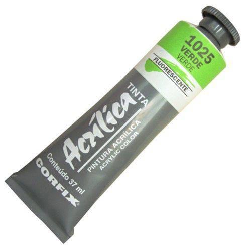 Tinta Acrilica Corfix Fluorescente Verde 37ml