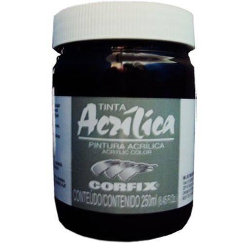 Tinta Acrilica Corfix Gr-i 250 Ml Preto 80300-65