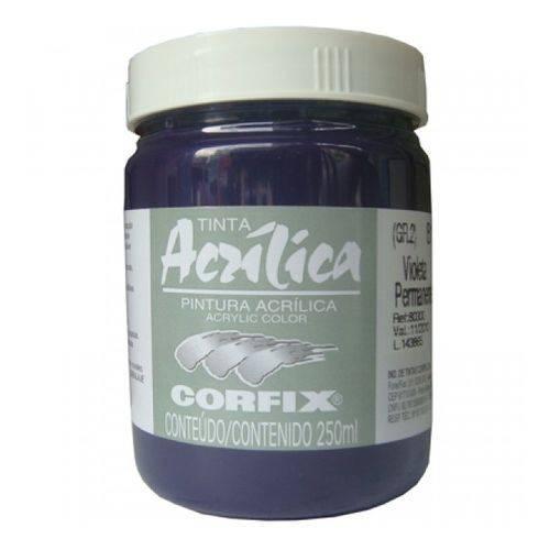 Tinta Acrilica Corfix Gr-ii 250 Ml Violeta Permanente 80300-81