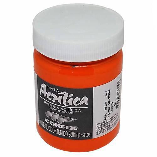 Tinta Acrílica Corfix Laranja 250ml