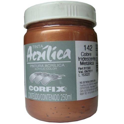 Tinta Acrilica Corfix Metalica Iridescente 250 Ml Cobre 81300-142