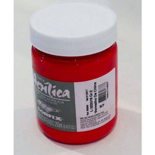 Tinta Acrílica Corfix Vermelho China #057 - 250ml G2