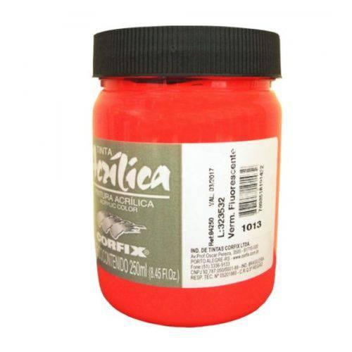 Tinta Acrílica Corfix Vermelho Fluor #1013 - 250ml