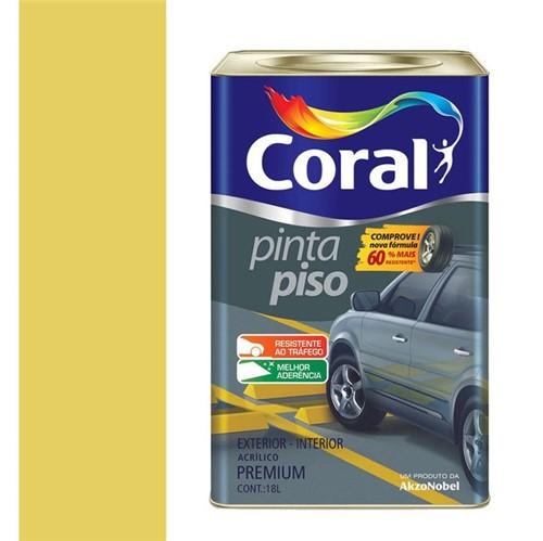 Tinta Acrílica Fosco Pinta Piso Amarelo Demarcação 18L - Coral - Coral