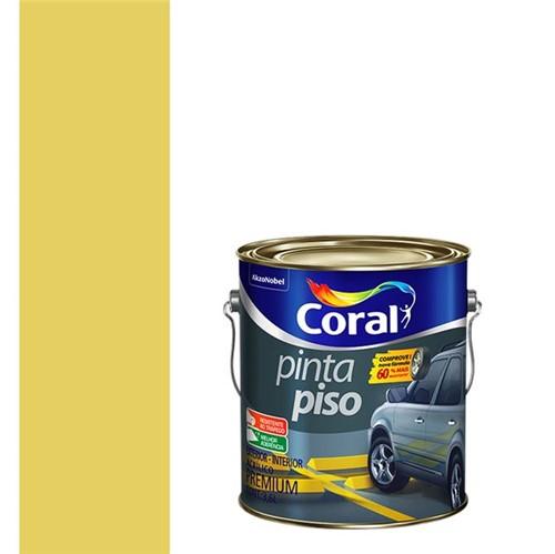 Tinta Acrílica Fosco Pinta Piso Amarelo Demarcação 3,6L - Coral - Coral