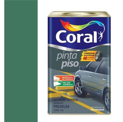 Tinta Acrílica Fosco Pinta Piso Verde 18L - Coral - Coral