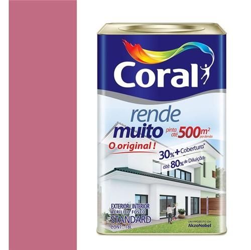 Tinta Acrílica Fosco Rende Muito Rosa Açai 18L - Coral - Coral