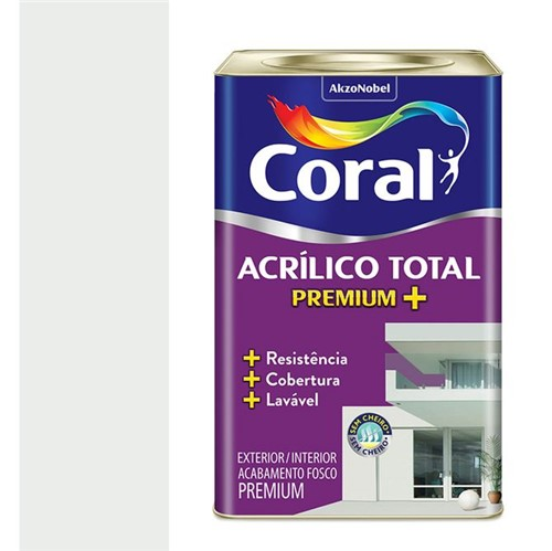 Tinta Acrílica Premium Fosca Acrílico Total Branca 18L - Coral - Coral