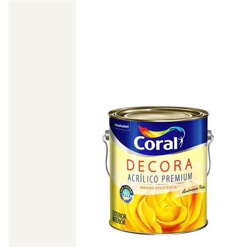 Tinta Acrílica Premium Fosca Decora Branco 3,6L - Coral - Coral