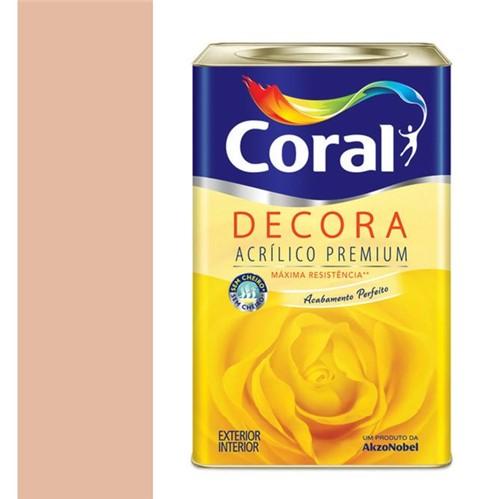 Tinta Acrílica Premium Fosca Decora Pêssego 18L - Coral - Coral
