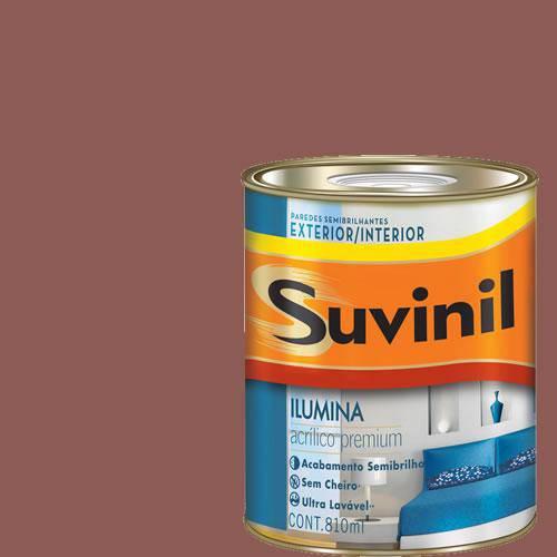Tinta Acrilica Semi Brilho Premium Suvinil Deserto Vermelho 900Ml.