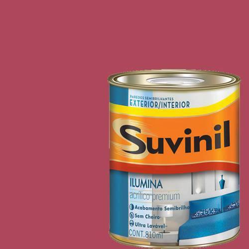 Tinta Acrilica Semi Brilho Premium Suvinil Groselha 900ml.