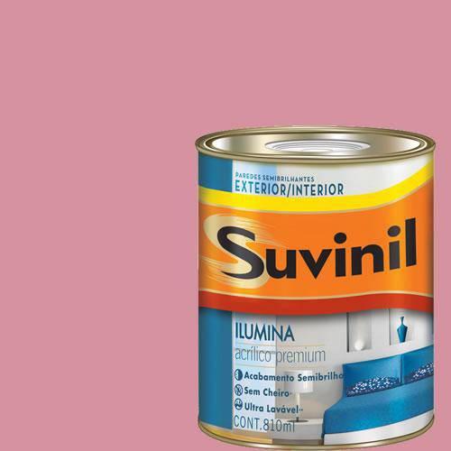 Tinta Acrilica Semi Brilho Premium Suvinil Morango com Suspiro 900ml.