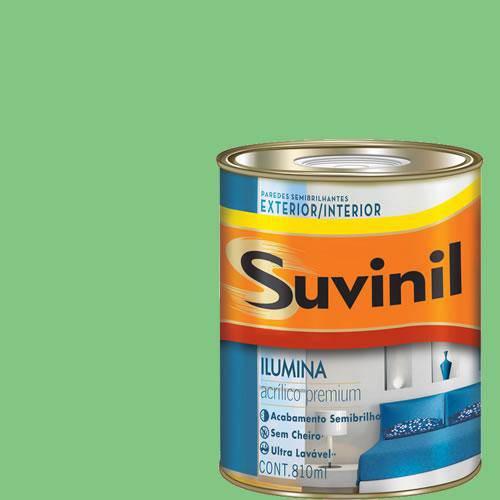 Tinta Acrilica Semi Brilho Premium Suvinil Turmalina Verde 900Ml.