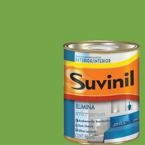 Tinta Acrilica Semi Brilho Premium Suvinil Verde Fortuna 900ml.