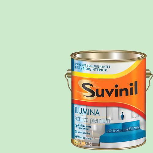 Tinta Acrilica Semi Brilho Premium Suvinil Verde Triunfo 3,6l.