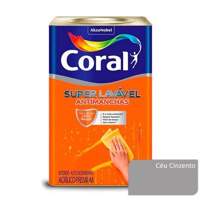 Tinta Acrílica Super Lavável Antimanchas Coral - Céu Cinzento - 16 Litros