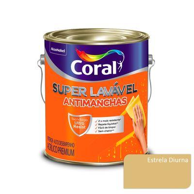Tinta Acrílica Super Lavável Antimanchas Coral - Estrela Diurna - 3,2 Litros