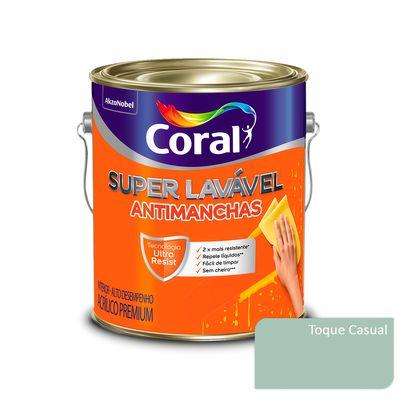 Tinta Acrílica Super Lavável Antimanchas Coral - Toque Casual - 3,2 Litros
