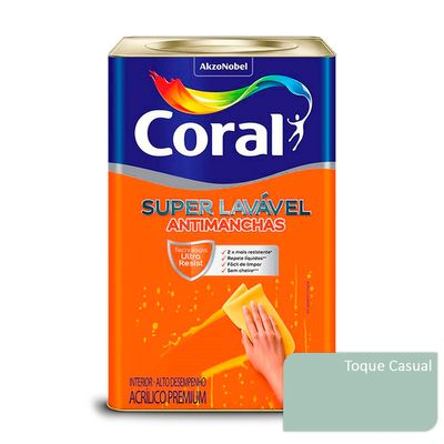 Tinta Acrílica Super Lavável Antimanchas Coral - Toque Casual - 16 Litros