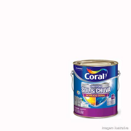 Tinta Acrílico Total Fosca Sol Chuva Branco 3,6L Coral