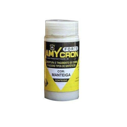 Tinta Amycron para Couro Legítimo e Alguns Sintéticos- Cor Manteiga 90ml - Amy